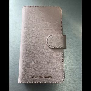 Michael Kors Soft Pink Leather iPone X case